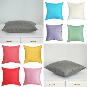Plain-Linen-Solid-Color-Nordic-Pillowcase-Waist-Pillow-Cover-Sofa-Home-Decor