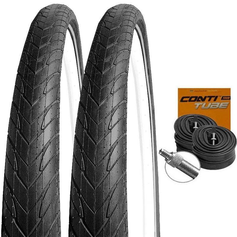 2x Michelin Protek REFLEX Pannenschutz Reifen 26x1.85     47-559 + CONTI SCHLÄUCHE eec928