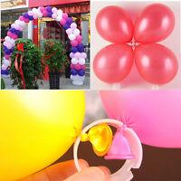 50X Decorative Helium Balloons Arch Buckle Ring Clips DIY Kit Wedding Birthday