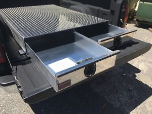 Truck Bed Tool Box With Drawers >> Bb72lp 2 Drawer Truck Bed Tool Box By Hmf 72 Long X 48 Wide X 7 1