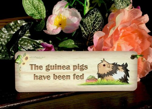 GUINEA PIG PERSONALISED PLAQUE Handmade Rustic Hanging Reversible Sign for pets