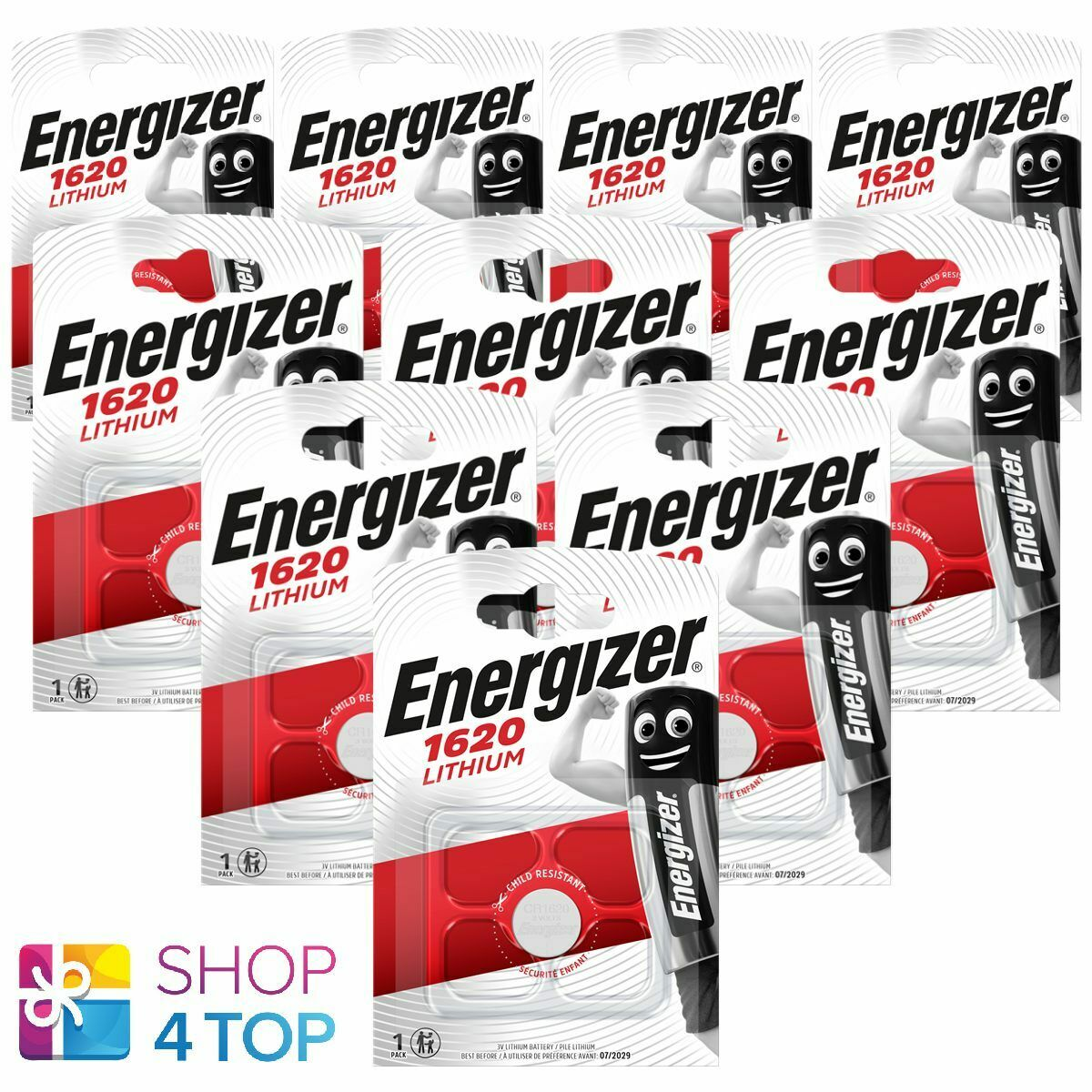 10 energizer cr1620 lithium batteries 3v coin cell dl1620 exp 2029 new