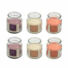 Set of 6 Bell Jar Wick Candles Scents: Exotic Mango Vanilla Orchid Cotton Fresh