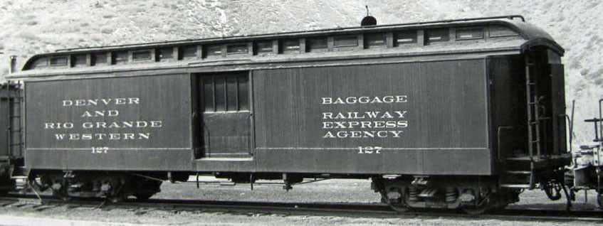 HOn3 D&RGW Express Baggage Car, laser cut wood resin roof kit MRGS