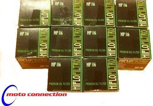 PACK OF 10 HONDA CRF450X CRF 450 ENDURO 05-14 OIL FILTERS HIFLO HF 116