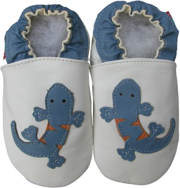 shoeszoo gecko white 0-6m S new soft sole leather baby shoes