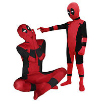Kid Adult Deadpool Unisex Lycra Spandex Zentai Halloween Costume Cosplay DP01