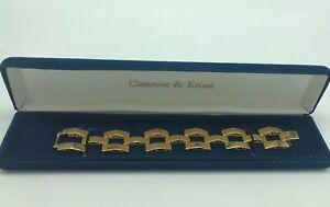 CAMROSE-amp-KROSS-JACQUELINE-KENNEDY-JBK-GOLD-Plated-Panther-Link-Bracelet-Box