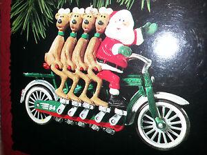 image is loading hallmark keepsake 1994 cheery cyclists santa bike christmas - Bicycle Christmas Ornament