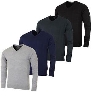 Sunice-Wool-Mix-Water-Resist-Golf-Jumper-Grey-Navy-Black-Charcoal-S-M-L-XL-XXL