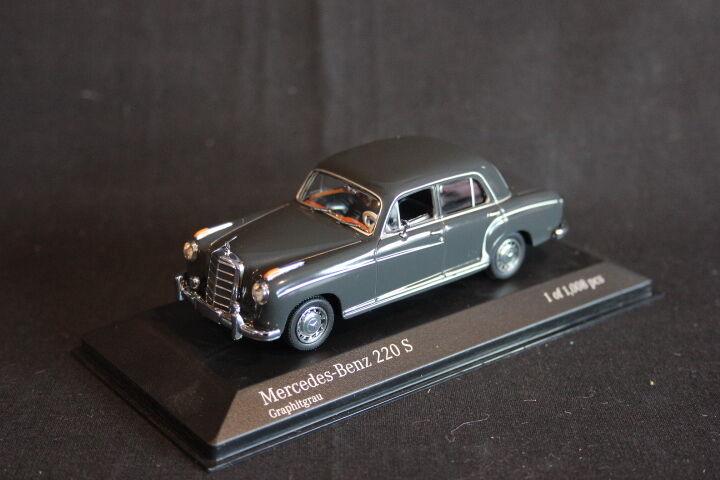 Minichamps Mercedes-Benz 220  S 1956 1 43 Graphitgrau (JS)