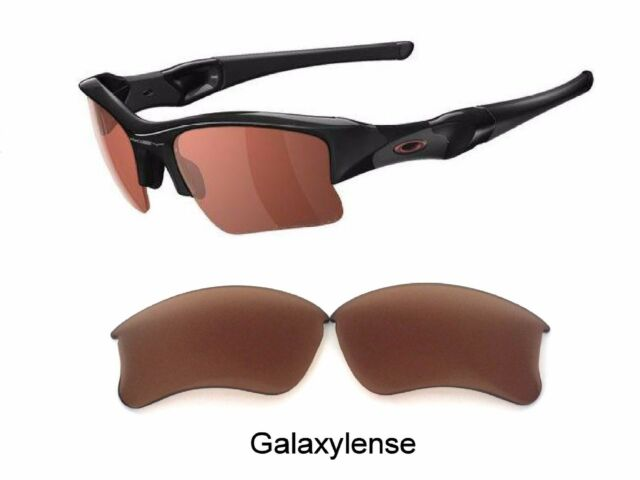 46bd6fc3546 Galaxy Replacement Lens For Oakley Flak Jacket XLJ Sunglasses Prizm Brown  Color