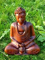 Buddha Wood Hand Carved Fair Trade Buddhism Sculpture Figure Carving Figurine