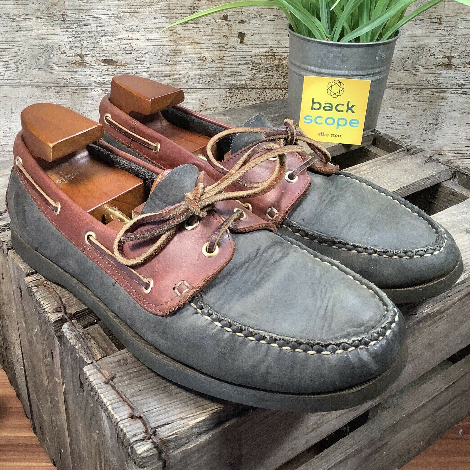 UK10 Clarks Boat Deck Moccasin Shoes - High Quality Leather Casual Comfort -EU44