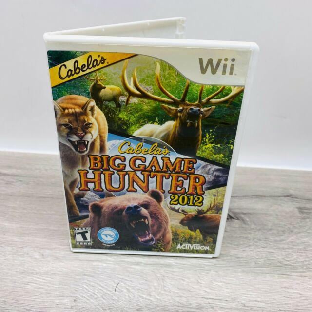 Cabela's Big Game Hunter 2012 (Nintendo Wii, 2011) Complete W/ Manual