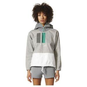 adidas Grey L Womens Eqt Windbreaker Jacket Sweatshirt