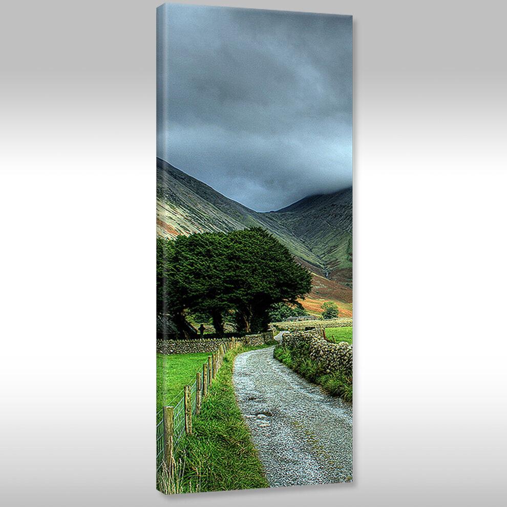 Tela Immagini Canvas Muro Immagine ALBERI Stampa d'Arte NATURA PAESAGGIO ALBERI Immagine Vista Montagna cd1182