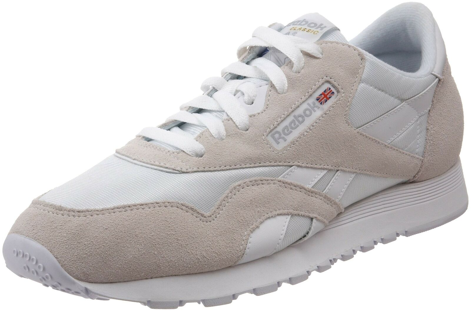 209cbd619bfe2 Classic Nylon Sneaker White Light 9 M US Reebok Grey znorme7553-Athletic  Shoes