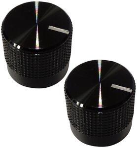 2 Boutons De Potentiomètre Pour Axe Moleté 6mm Ø15mm Noir En Alu Et Plastique 2ffdeokz-07165812-298124857