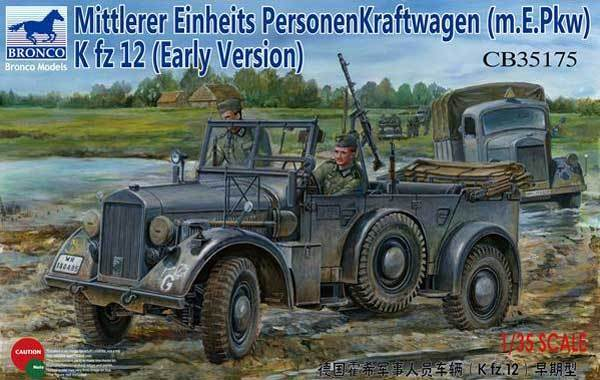 Bronco Models 1 35 German Horch Staff Car (Kfz.15) Early Version