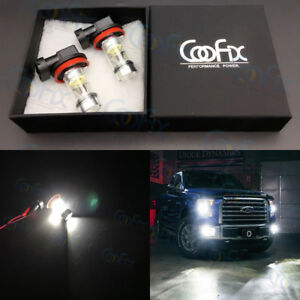 NEW-2x-H8-H9-H11-H16-6000K-White-CREE-100W-High-Power-LED-Fog-Light-Driving-Bulb
