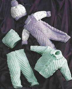 Childs Aran Jumper Knitting Pattern : BABY ARAN JACKET SWEATER DUNGAREES HAT KNITTING PATTERN (512) eBay
