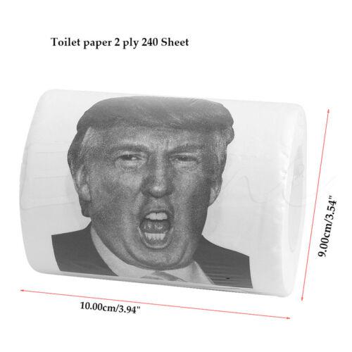 Donald Trump Toilettenpapier Rolle Ausgabe Lustig Gag Scherz Witz Groß Mund