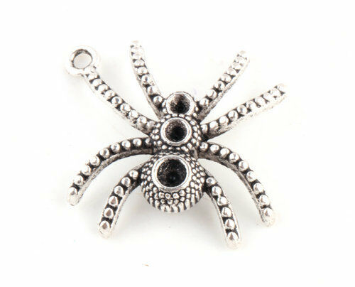 Lots 5/10/25/50 Pcs Spider Tibetan Silver Charms Pendants Craft Jewelry Findings