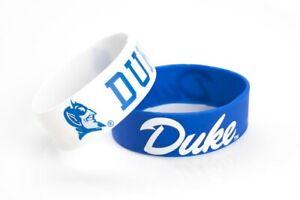 Duke-Blue-Devils-Silicone-Bracelet-2-Pack-2-Colors-Wide-Band-Brand-New