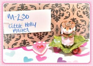 Wee-Forest-Folk-M-230-Little-Holly-Angel-PINK-Mouse-Holiday-Christmas-WFF