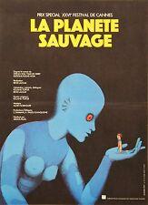 """""""LA PLANETE SAUVAGE"""" Affiche originale entoilée (Roland TOPOR / René LALOUX)"""
