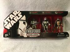 Star Wars EVOLUTIONS Clone Trooper To Stormtrooper 3 Pack Box Set 30th 2007 NEW