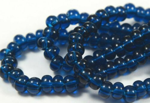 "Czech Glass Seed Beads Size 6//0 /"" MONTANA BLUE /"" Strands"