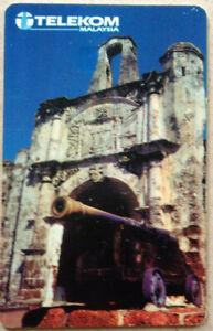 Malaysia-Used-Phone-Card-Melaka-Formosa-Fort