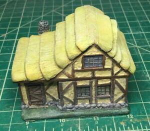 15 mm European Tudor style house Unpainted building miniature with interior