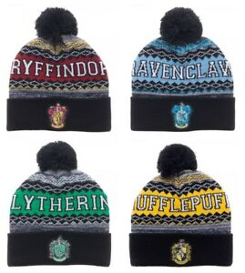 4e4fc0c4587 Harry Potter Beanie Winter Hat Gryffindor Slytherin Ravenclaw ...