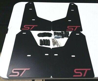 SALE SR 13-18 FOCUS ST RS Mud Guard Flaps STARTER Set BLACK w// Logo NO HARDWARE