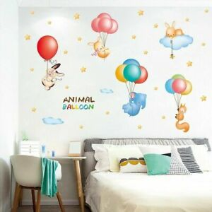 Animal-Balloon-DIY-Wall-Stickers-Nursery-Kids-Room-Removable-Mural-Decal-Decor