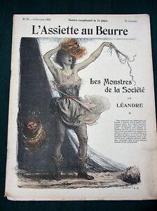 L-039-Assiette-au-Beurre-79-French-1902-Art-Magazine-Les-Monstres-de-la-Societe