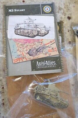 Axis /& Allies Base Set M3 Stuart with card 12//48