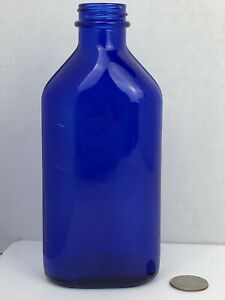 Vintage-7-034-Cobalt-Blue-Genuine-Phillips-Milk-Magnesia-Glass-Bottle-USA