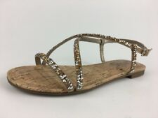 578d5da9b Circus by SAM EDELMAN  Hilary  Flat Sparkle Linen Sandal Sz ...
