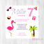 Hot Tub Party Personalised INVITATIONS Girl/'s Tropical Birthday Party INVITES