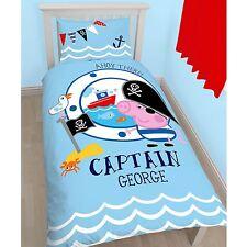 Peppa Pig George Pirata Funda Nórdica Individual & Juego de almohada NUEVO