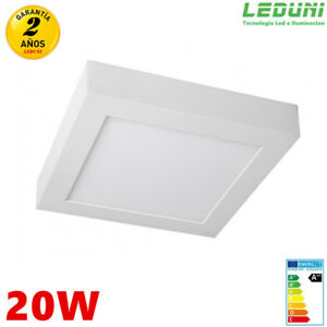 Panel-LED-Superficie-Cuadrado-20W-1640-2000LM-Marco-Blanco-Interior-230X40MM