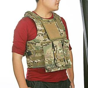MOLLE-Military-Army-Combat-Paintball-Vest-Adjustable-Light-Camouflage-Nylon-New