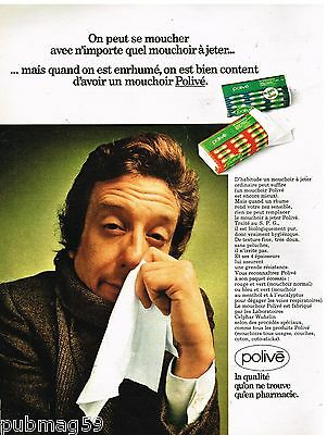 Breweriana, Beer Publicité Advertising 1972 Les Mouchoirs Polivé Other Breweriana