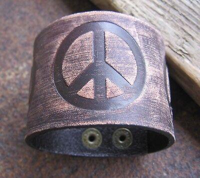 2 X Peace Leder Armband Braun Herrenarmband Lederarmband Herren Breit Surfer Neu Um Eine Reibungslose üBertragung Zu GewäHrleisten