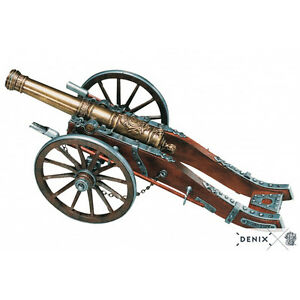 Scale-Model-Cannon-12-034-French-Louis-XIV-18th-Century-Field-Artillery-New