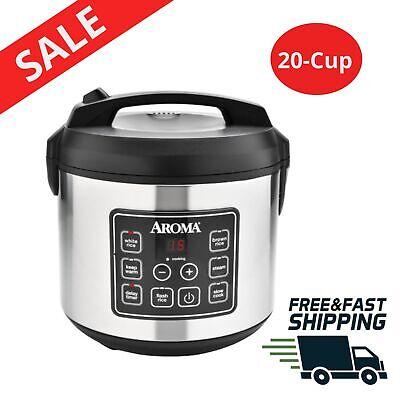Rice /& Grain Cooker 8 Cup Kitchen Vegetable Steamer Digital Programmable Control